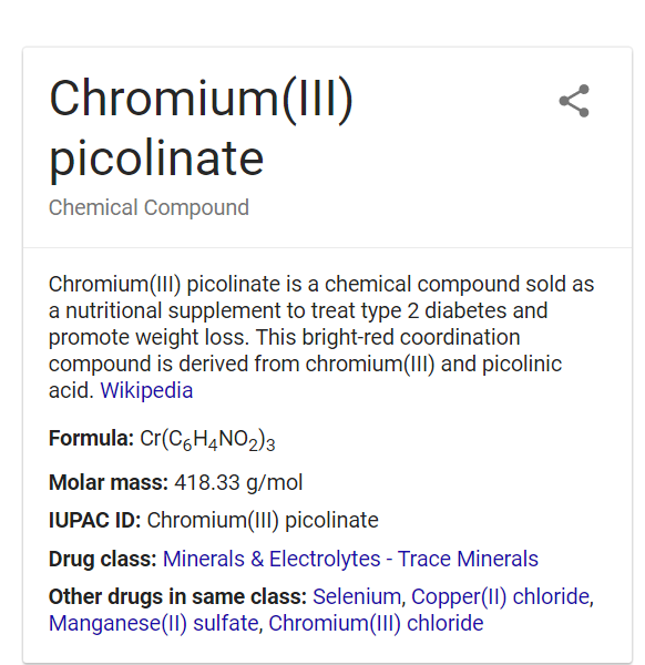 chromium supplements
