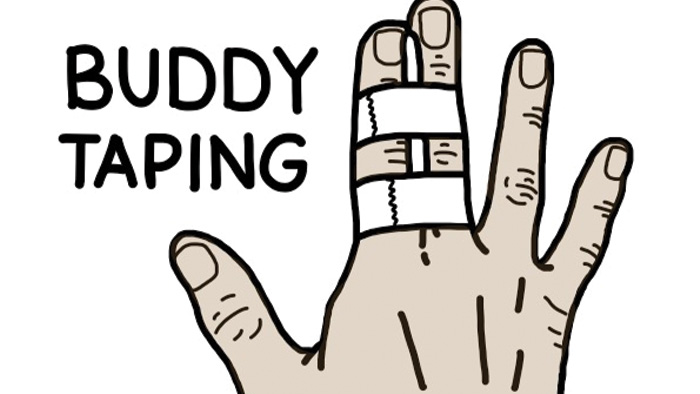 buddy taping two fingers