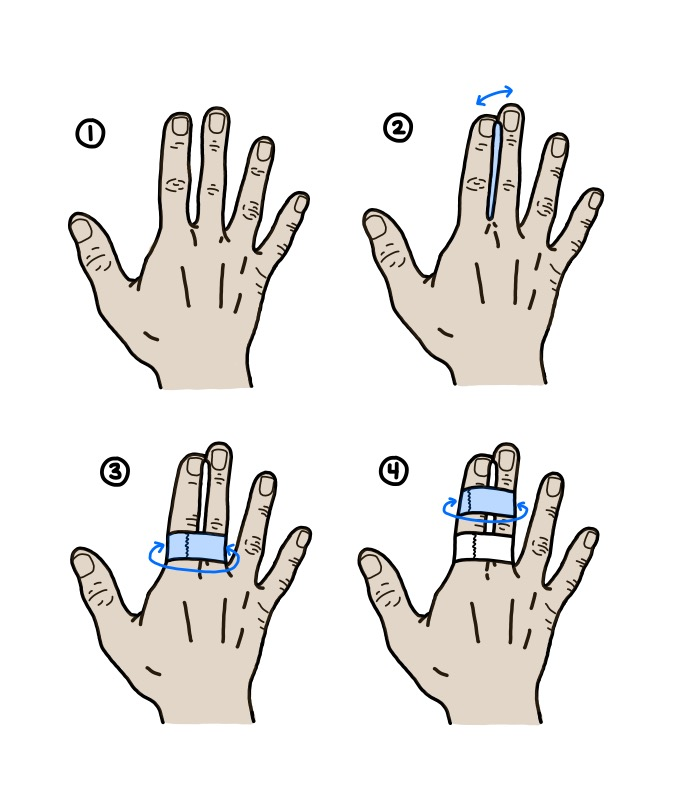 how to buddy tape in 4 steps